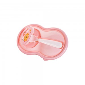 Imagem do produto - Pote de Plástico para Papinha 320 ml com Colher e Tampa Protetora Bichinhos Petit