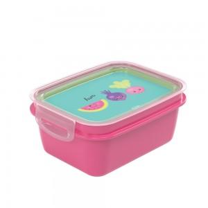 Imagem do produto - Marmita de Plástico 850 ml com Divisória Removível e Travas Laterais Frutas
