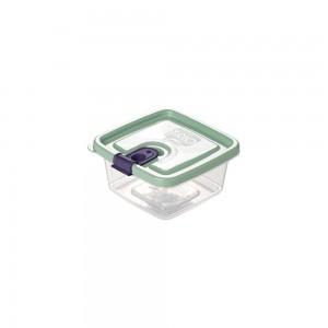 Imagem do produto - Pote de Plástico Retangular 210 ml com Tampa Fixa e Trava Trio Verde
