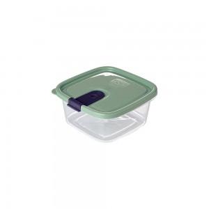 Imagem do produto - Pote de Plástico Retangular 510 ml com Tampa Fixa e Trava Trio Verde