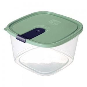 Imagem do produto - Pote de Plástico Retangular 2,5 L com Tampa Fixa e Trava Trio Verde