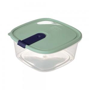 Imagem do produto - Pote de Plástico Retangular 1,8 L com Tampa Fixa e Trava Trio Verde