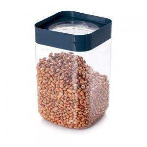 Imagem do produto - Pote de Plástico Quadrado 2 L Tampa Rosca Plug Azul