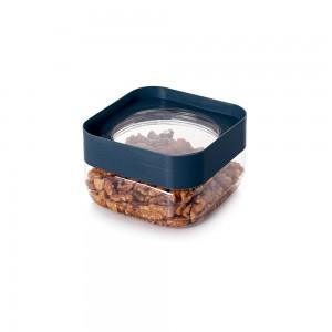 Imagem do produto - Pote de Plástico Quadrado 510 ml com Tampa Rosca Plug Decora Azul