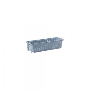 Imagem do produto - Cesta de Plástico Retangular Organizadora 920 ml Empilhável Trama Azul