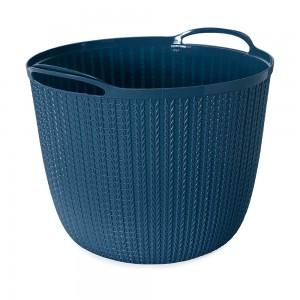 Imagem do produto - Cesta de Plástico Redonda 25,5 L com Alças Trama Azul