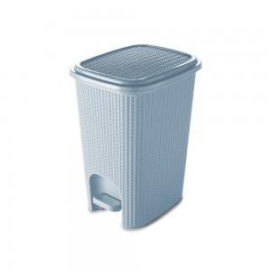 Imagem do produto - Lixeira de Plástico 12 L com Pedal Trama Azul