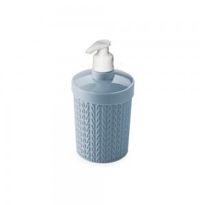 Imagem do produto - Porta Sabonete Líquido de Plástico 360 ml Trama Azul