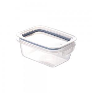 Imagem do produto - Pote de Plástico Retangular 360 ml Hermético Trava Mais Azul