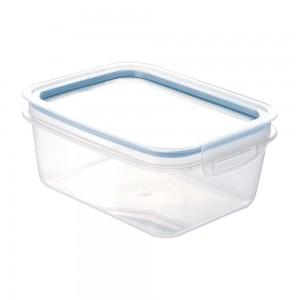 Imagem do produto - Pote de Plástico Retangular 1,3 L Hermético Trava Mais Azul