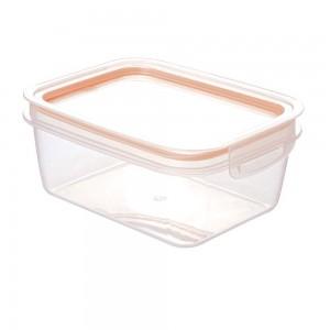 Imagem do produto - Pote de Plástico Retangular 1,3 L Hermético Trava Mais Rosa