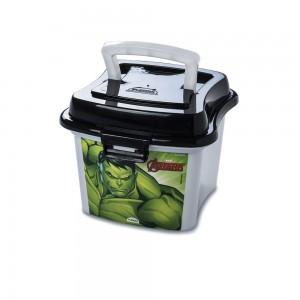 Imagem do produto - Caixa de Plástico 1 L com Tampa Fixa, Trava e Alça Avengers Hulk