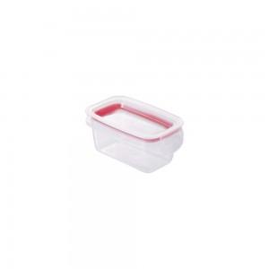 Imagem do produto - Pote de Plástico Retangular 175 ml Hermético Trava Mais Vermelho