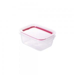 Imagem do produto - Pote de Plástico Retangular 400 ml Hermético Trava Mais