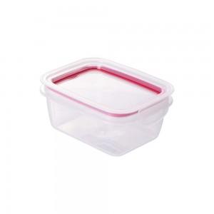 Imagem do produto - Pote de Plástico Retangular 630 ml Hermético Trava Mais