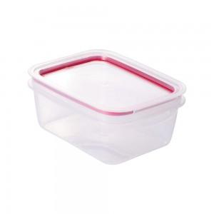 Imagem do produto - Pote de Plástico Retangular 910 ml Hermético Trava Mais