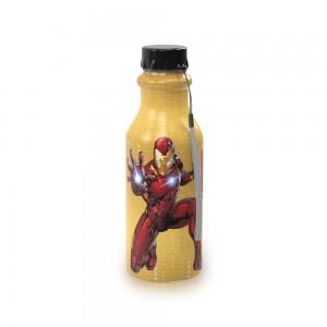Imagem do produto - Garrafa de Plástico 500 ml com Tampa Rosca Retrô Avengers Homem de Ferro