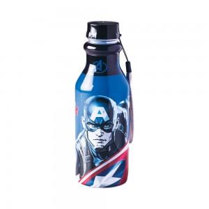 Imagem do produto - Garrafa de Plástico 500 ml com Tampa Rosca Retrô Avengers Capitão América