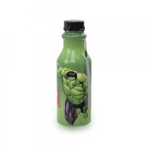 Imagem do produto - Garrafa de Plástico 500 ml com Tampa Rosca Retrô Avengers Hulk