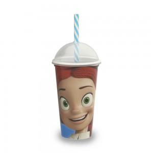 Imagem do produto - Copo Shake de Plástico 500 ml com Tampa e Canudo Toy Story Jessie