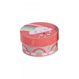 Imagem do produto - Caixa de Plástico Redonda 630 com Tampa Encaixável Arco Íris