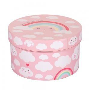 Imagem do produto - Caixa de Plástico Redonda 2,1 L com Tampa Encaixável Arco Íris