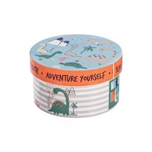 Imagem do produto - Caixa de Plástico Redonda 1,2 L com Tampa Encaixável Dino