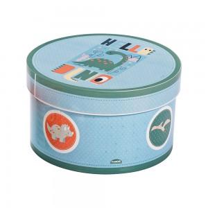 Imagem do produto - Caixa de Plástico Redonda 2,1 L com Tampa Encaixável Dino