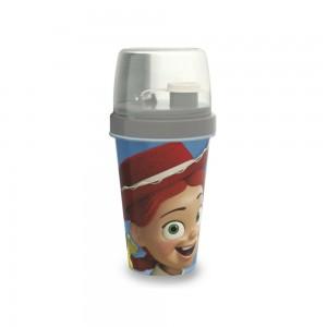 Imagem do produto - Mini Shakeira de Plástico 320 ml com Misturador, Fechamento Rosca e Sobretampa Articulável Toy Story Jessie