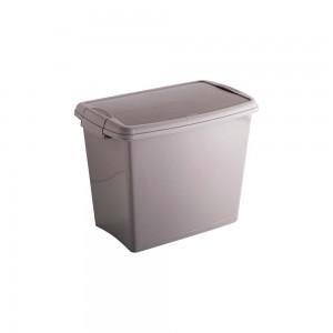 Imagem do produto - Caixa de Plástico Retangular Organizadora 7,8 L com Tampa, Travas Laterais Gran Box - Fendi