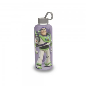 Imagem do produto - Garrafa de Plástico 480 ml com Tampa Rosca e Pegador Fixo Cilíndrica Toy Story Buzz
