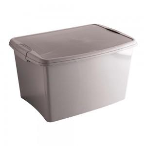 Imagem do produto - Caixa de Plástico Retangular Organizadora 18,7  L com Tampa, Travas Laterais Gran Box - Fendi