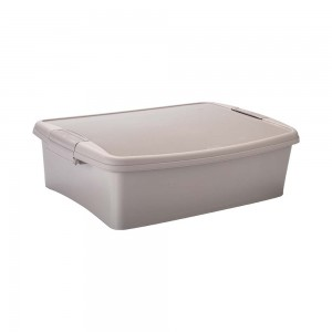 Imagem do produto - Caixa de Plástico Retangular Organizadora 8  L com Tampa, Travas Laterais Gran Box - Fendi