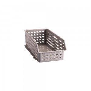 Imagem do produto - Cestinha de Plástico Retangular Organizadora Empilhável Alta P - Fendi