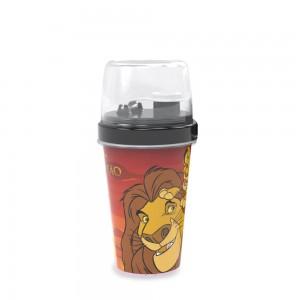 Imagem do produto - Mini Shakeira de Plástico 320 ml com Misturador, Fechamento Rosca e Sobretampa Articulável O Rei Leão