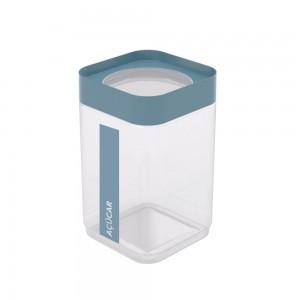 Imagem do produto - Pote de Plástico Quadrado 2 L para Açúcar Tampa Rosca Plug Direcionado
