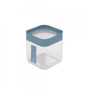 Imagem do produto - Pote de Plástico Quadrado 1,28 L para Sal Tampa Rosca Plug Direcionado