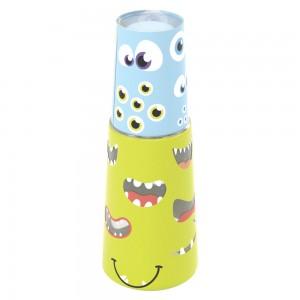 Imagem do produto - Garrafa Moringa de Plástico 960 ml com Copo Monstros