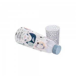 Imagem do produto - Garrafa Moringa de Plástico 960 ml com Copo Bichinhos