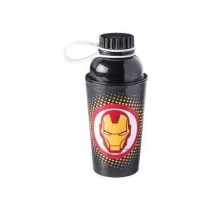 Imagem do produto - Garrafa de Plástico 430 ml com Tampa Rosca Fixa Vip Avengers Homem de Ferro