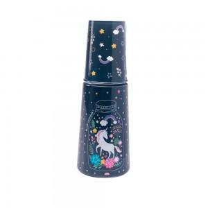 Imagem do produto - Garrafa Moringa de Plástico 960 ml com Copo Unicornio