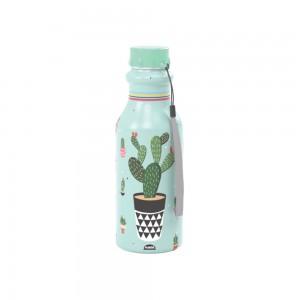 Imagem do produto - Garrafa de Plástico 500 ml com Tampa Rosca Retrô Cacto