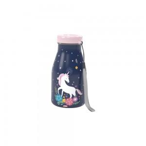 Imagem do produto - Garrafa de Plástico 390 ml com Tampa Rosca Milk Unicornio