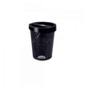 Imagem do produto - Porta Cotonete de Plástico Mármore Preto
