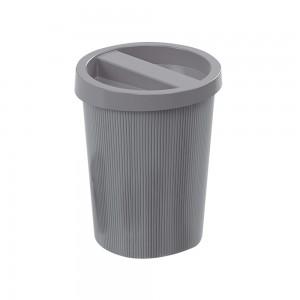 Imagem do produto - Lixeira de Plástico 5,5 L com Tampa Mármore Preto