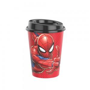 Imagem do produto - Copo de Plástico 320 ml com Tampa Café Homem Aranha