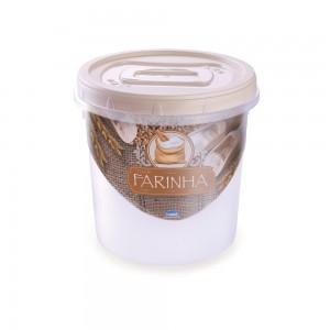 Imagem do produto - Pote de Plástico Redondo para Farinha 1,8 L Rosca