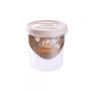 Imagem do produto - Pote de Plástico Redondo para Farinha 1,8 L Mantimentos Rosca