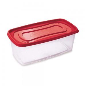 Imagem do produto - Pote de Plástico Retangular 3 L Clic Vermelho