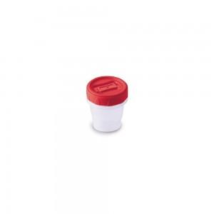 Imagem do produto - Pote de Plástico Redondo 65 ml Rosca Vermelho